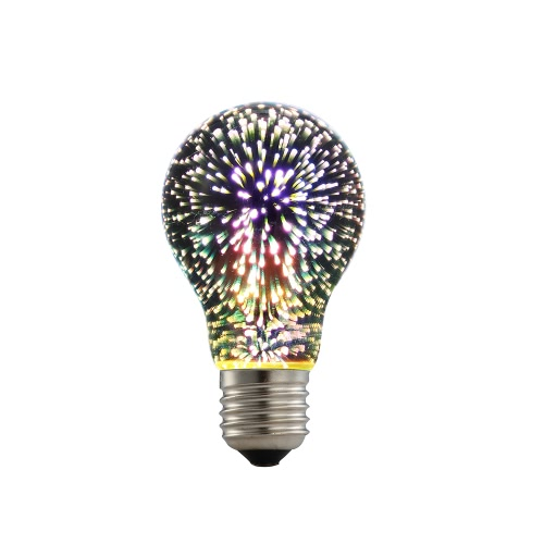 6W E27 LED 3D Colorful ST64 Filament Fireworks Light Bulb