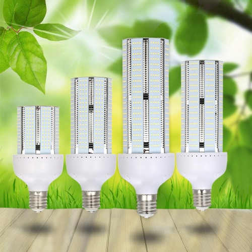 100-300V 60W 6000LM High Bright Cool White Spotlight E39 E40 Screw Base 2835 SMD 324 LED Corn Bulb Lamp Light for Wall Pack Canopy High Bay Warehouse Pathway Highway Parking Lot Supermarket