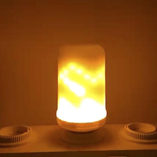LED-Flammen-flackernde Effekt-Feuer-Glühlampe SMD2835 kreative Atmosphären-Lampe