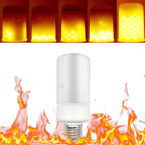 Tomshine LED Flame Flickering Effect Fire Light Bulb 3 Lighting Modes E26 Base SMD2835 Creative Decorative Atmosphere Lamp for Party Holiday Birthday Gift
