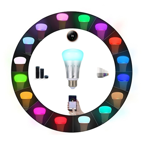 Tomshine Smart LED Bulb Intelligent Light Dimmable Brightness Adjustable WIFI Wireless APP Control AC85-265V Multicolored Changing Party Disco Decoration Lamp