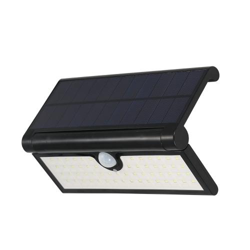 58LEDs Składana lampa ścienna zasilana energią słoneczną z czujnikiem ruchu PIR