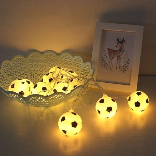 10LEDs 2.13m World Cup Soccer Football LED String Light - Warm White