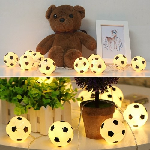 10LEDs 2.13m Coupe du Monde Football Football LED String Light - Blanc chaud