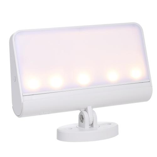 Беспроводной датчик движения Ночной светильник 360 ° Вращающийся светодиодный настенный светильник