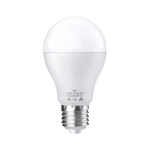 2PCS / lot E27 7W LED Glühlampe mit Bewegungssensor