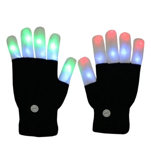 1 para LED świecących migających rękawic