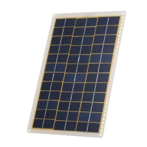 DC5V / DC18V 15W tragbare Solar Power Energy Lade Panel USB-Schnittstelle IP65 Wasserbeständigkeit Notwendigkeiten für Outdoor Camping Wandern Klettern