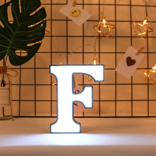 White Letter-Shape Lamp Home Club Outdoor Indoor Party Wedding Decoration фото