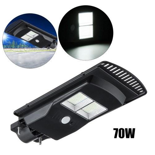 Wall Street Light Outdoor IP67 Waterproof 70W Black Solar Panel Lamp