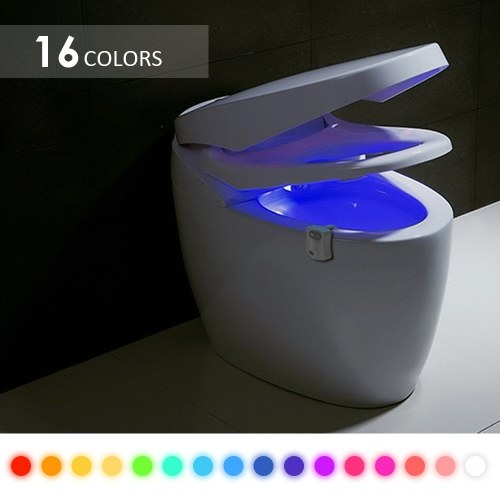 16 Colors Led Nightlight Motion Sensor Toilet Light Human Body Induction Lamp Bathroom Night Light