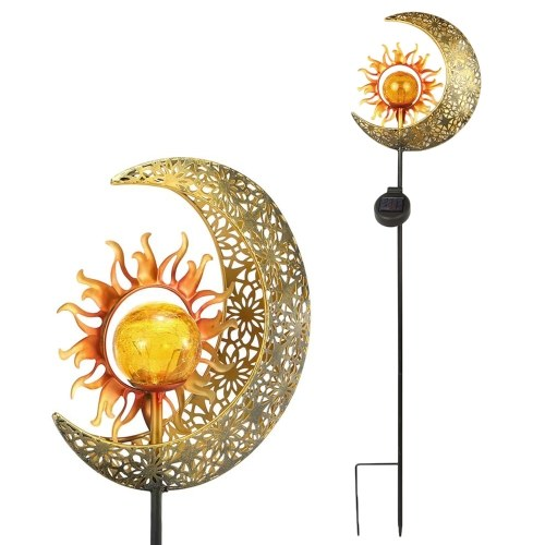 Solar Mond und Sonne Boden eingesetzt Lampe Patio Haushalt Rasen Licht