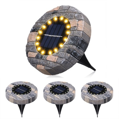4Pcs Solar Ground Lights Outdoor Garden Waterproof In-Ground Leds Lamp Pathway Yard Patio Lawn Steps Light