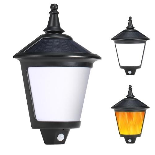Solar inteligente Seguridad LED Inducción Luz Cuerpo Inducción + Control de luz Luz blanca / Resplandor cálido