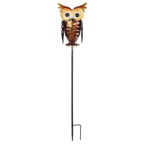 Tomshine Солнечные фонари с совами, настольная лампа, металлическая сова, декоративный светодиодный садовый ландшафтный свет, для дорожки, дорожки, двора, лужайки