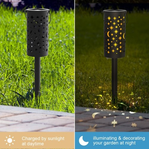 Tomshine Solar Powered Ground Light Outdoor Garden Lights LED Pathway Lantern Stake Lamp Decoration Lighting for Landscape Garden Patio 6Pack