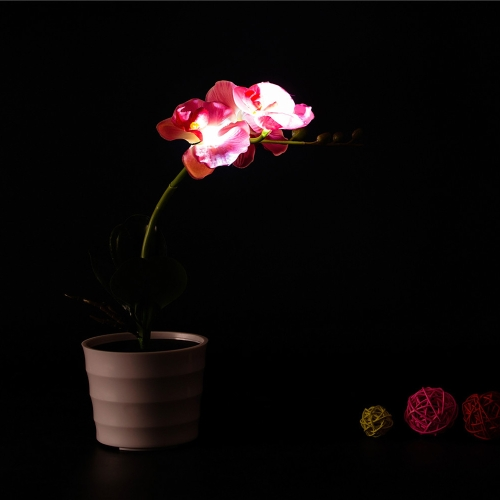 3 LEDs Solar Powered Rhododendrons Flower LED Light Night
