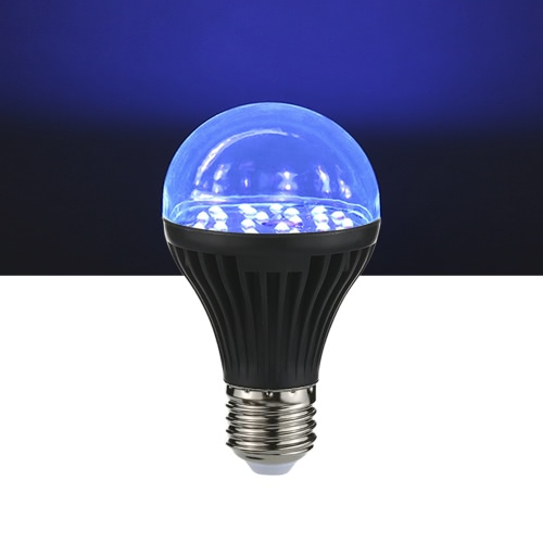 7W 25 LEDs UV-Glühlampe A19 Ultraviolet Blacklight mit E27 Lampensockel