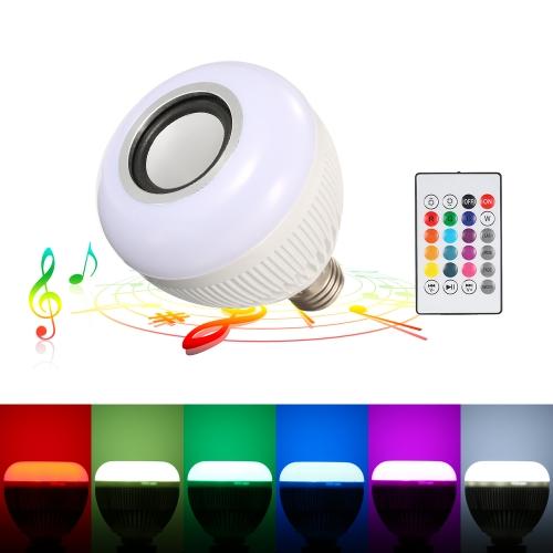 RGBW BT Głośnikowa żarówka LED z bezprzewodowym bezprzewodowym pilotem stereo
