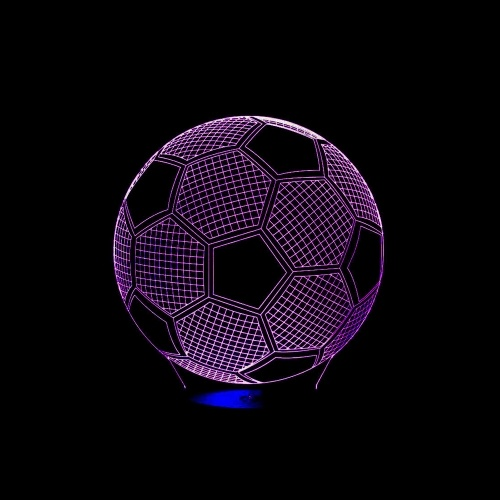 3D Football Soccer Illusion Lamp LED Night Light for Bedroom Living Room Home Decoration Kids Gifts