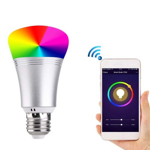 Controllo intelligente di Smart Cell Phone della lampadina di RGB + W 9W WIFI LED