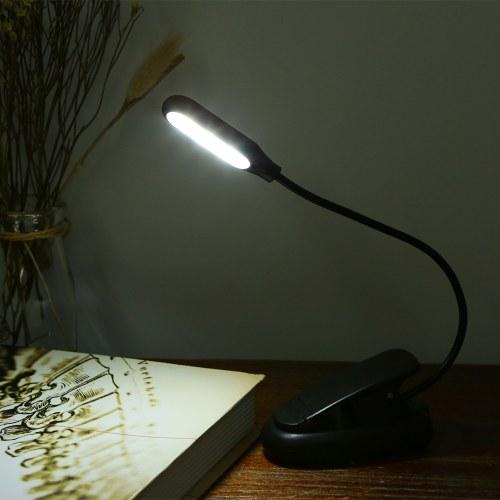 5 LED 2 Lichtfarben 3 Beleuchtungsmodi Tischleuchte Tischleuchte mit Klemme Clip Base