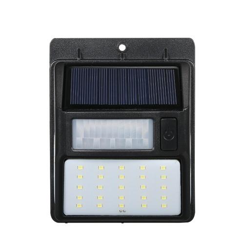 Solar Powered PIR Motion Lamp CDS Night Sensor LED Wall Light