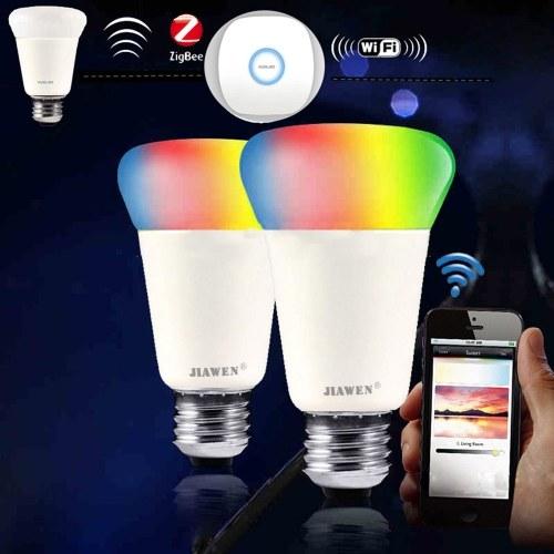 JIAWEN 9W E27 RGBW Intelligent Bulb Wireless APP Control (версия Zigbee)