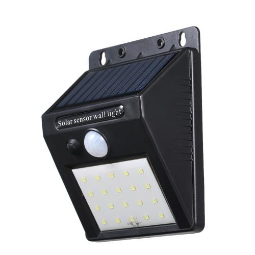 Luz de lámpara de pared de energía solar de 20 LEDs