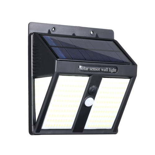3つの側面250 LEDソーラーウォールライト照明およびPIRモーションセンサーライト