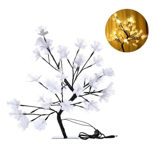 48 L-EDs Flower Tree Black Branches Light Warm White Night Light Christmas Home Decoration