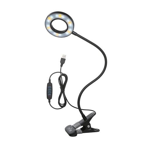 Накладной светильник Tomshine USB с 3 цветовыми режимами 10 Регулируемая яркость 18 светодиодов Лампы для чтения Защита глаз Настольная лампа для детей