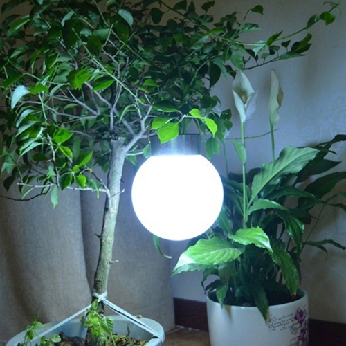 Lixada Ball Shaped Outdoor Solar Powered Garden Landscape Pathway Decoration Light Sense LED Hanging Lamp