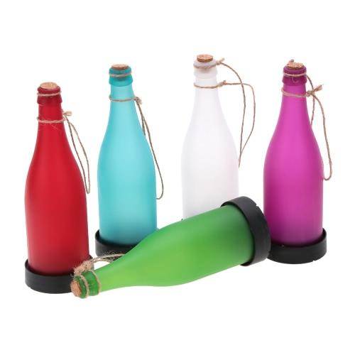 5PCS Индуцированная Подвесная Лампа от Солнечной Энергии Бутылка-форма с пробковым верхом для Сада Двора LED Подвесной Светильник