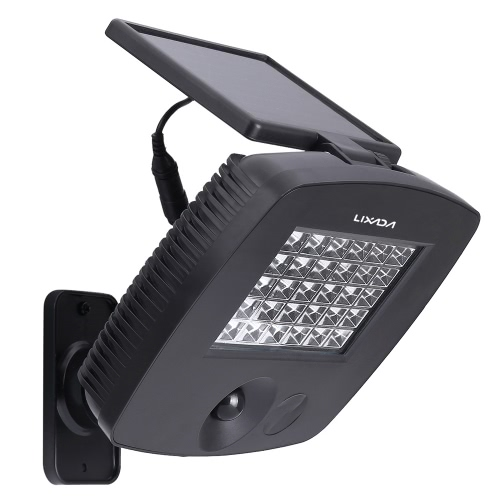 Lixada 30LEDs Ultra Bright Outdoor Solar Powered czujnik ruchu PIR Światło Lampa ścienna do ogrodu balkon Willa Courtyard