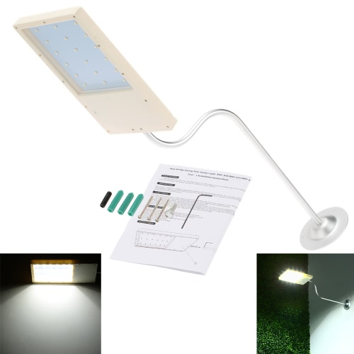 Навесные LED солнечных батареях супер яркий свет управления Датчик стены лампы 18 светодиодов энергосберегающие открытый стрит сад водонепроницаемость тонкий
