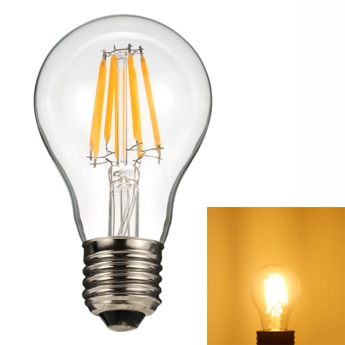 8W A60 LED Filament Bulb Light AC220-240V E27 Base Vintage Retro Holiday Festival Decorations Warm White