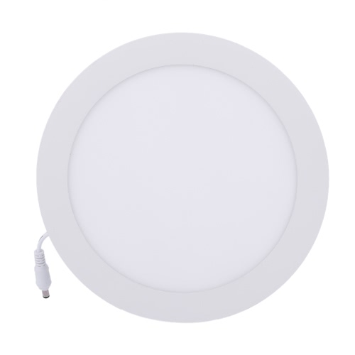 Lixada 18W LED Recessed Lighting Panel Ceiling Down Light Ultra Slim Thin and Bright Round Lamp Glare-free Wall Mount Downlights