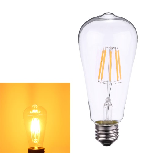 8W ST64 LED Filament Bulb Light AC220-240V E27 Base Vintage Retro Holiday Festival Decorations Warm White