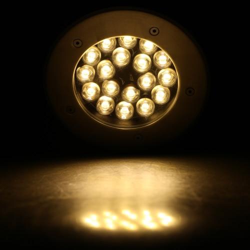 12V-24V 18W LED Outdoor Ground Garden Path Floor Stair Underground Buried Yard Lamp Spot Landscape Light IP67 Waterproof