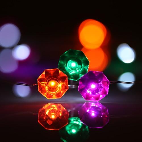 Звездное Рождество свет шнура 40 светодиодов 3m / 10ft Функция таймера с пульта дистанционного управления питанием от батареи Фея Лампа для Хэллоуина Christams праздничного оформления