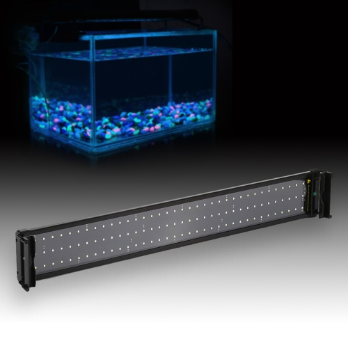 29 Extendable 18W 108 LED SMD 2835 White Blue Light 2 Modes Bracket Aquarium Fish Tank Lamp