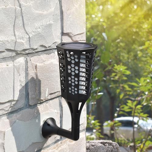 96Pcs im Freien wasserdichte LED Flame Solar Taschenlampe Licht Rasen Beleuchtung