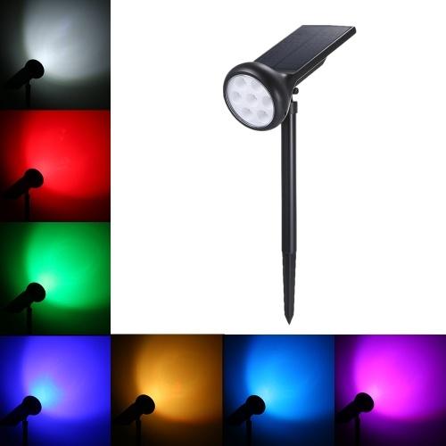 7 LEDs solarbetriebenes Rasenlicht