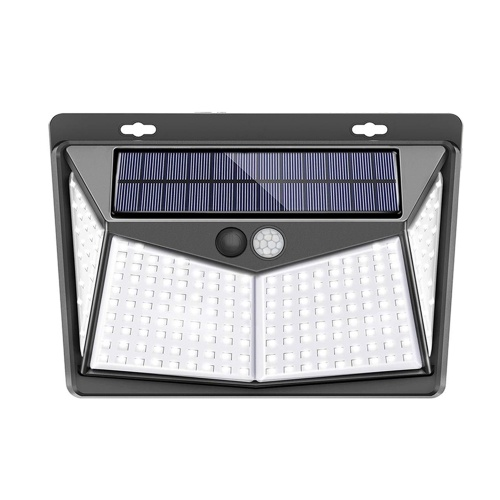 208LED Solar Light Wall Lamp PIR Motion Sensor Light IP65 Water-resistant Outdoor Lighting Security Light for Pathway Yard Garden Courtyard