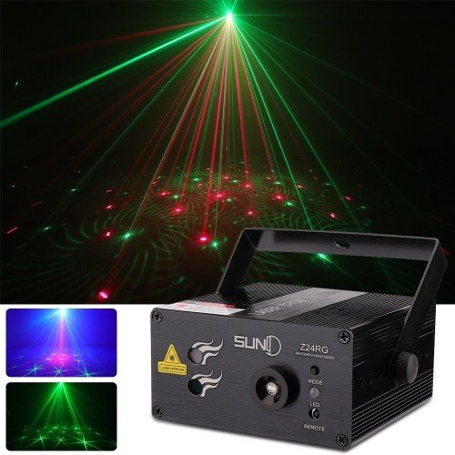 SUNY 3 Lente 24 Patrones L-ED Luz de escenario Sonido Activado Club Party DJ Light Disco Light