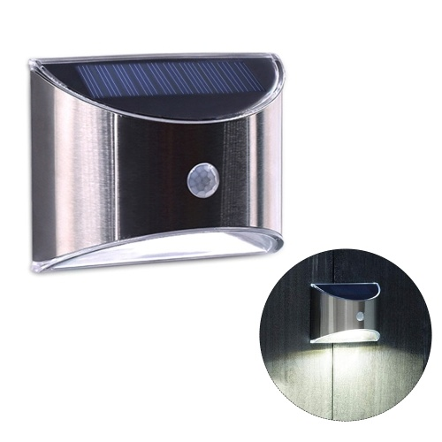 Outdoor Stainless Steel Solar Wall Lamp Waterproof Yard Garden Lighting Fence Step Stairs Lights