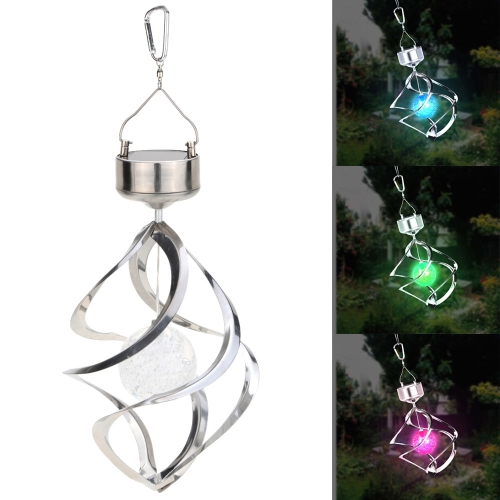 Solar Powered Light Sense Wind Spining LED Hanging Lamp