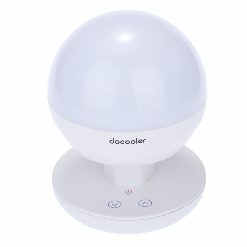 docooler2W Multifunctional Rechargeable Portable Dimmable Intelligent Night Light Built-in 2200mAh Large Capacity Camping Light/ Fishing Light/Emergency Light/Tent Light Brightness Adjustable