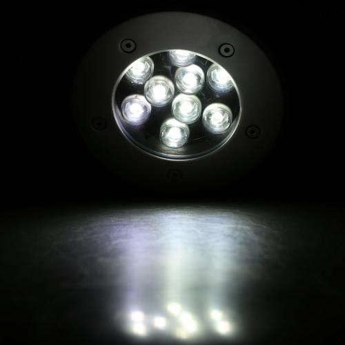 12V-24V 9W LED Outdoor Ground сада Путь этаж Лестница Подземный Похоронен Двор светильник Точечный свет Пейзаж Водонепроницаемый IP67